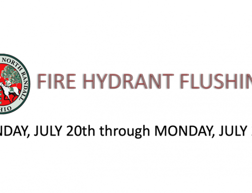 Fire Hydrant Flushing 7/20 – 7/27