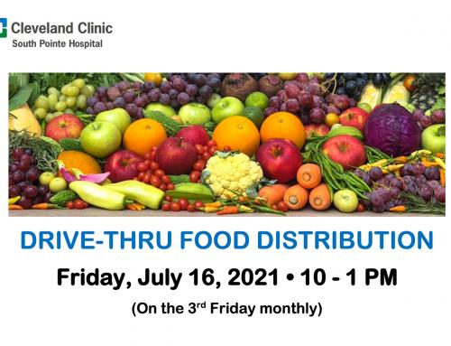 Drive-Thru Food Distribution at South Pointe Hospital